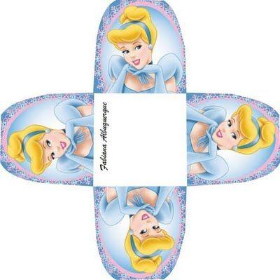 Cinderella: free printable boxes.