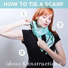 scarves, scarves, more scarves - online ordering site with info on how to tie and many scarves I can make myself.