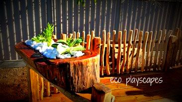 succulent arc feature planter - design and created by Eco Playscapes