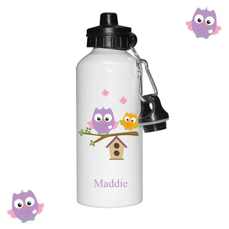 Personalised Kids water bottle, Drinks bottles for little girls, sports bottles, by cjcprint on Etsy
