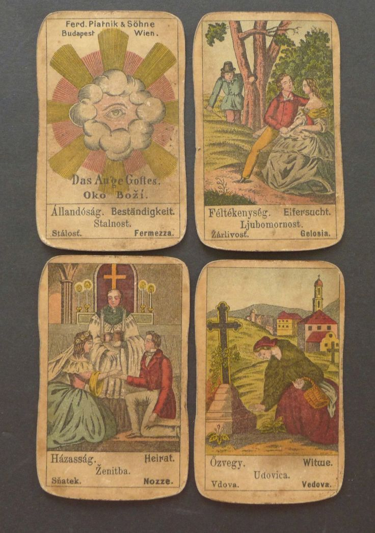 Antique Gypsy Fortune Telling Cards Oracle Piatnik Vintage Old 1800s | eBay