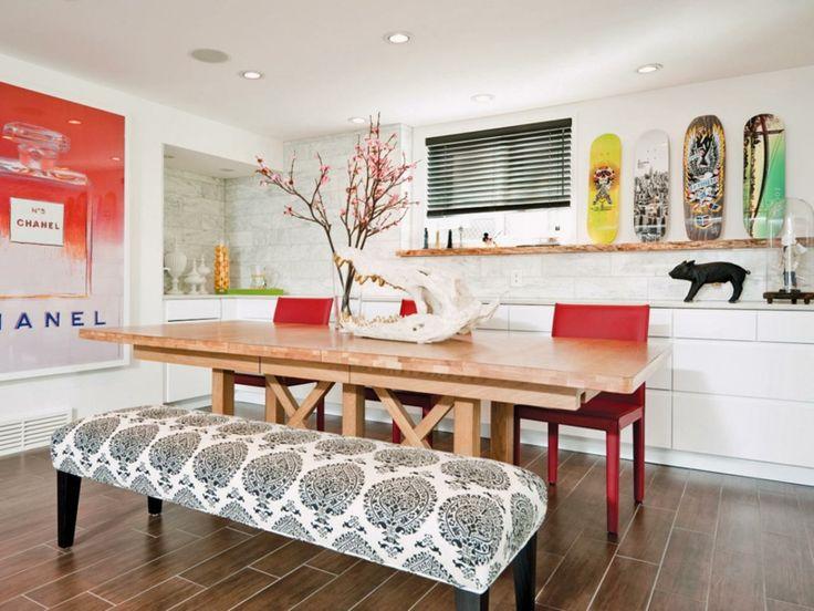 Eklektische Esszimmer Gestaltung mit Farben und Möbel Kombinationen