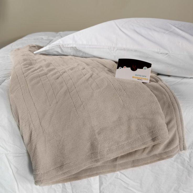 Biddeford Blankets Microplush Electric Warming Blanket with Digital Controls