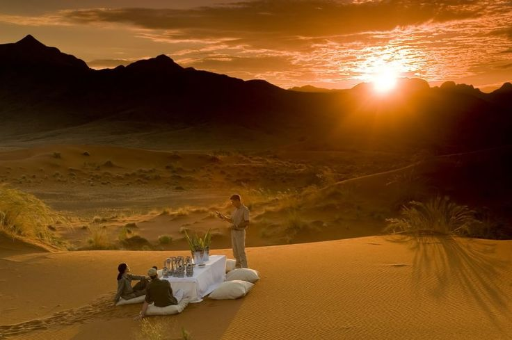 """917 Likes, 26 Comments - andBeyond (@andbeyondtravel) on Instagram: """"Where would you like to toast the sunset tonight? ---------- 📍: @andbeyondsossusvlei 🌍: Namib…"""""""