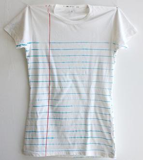 Women's Loose Leaf Notebook Paper Print T-Shirt