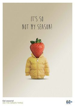 Poster from Do the Green Thing on consuming seasonal produce