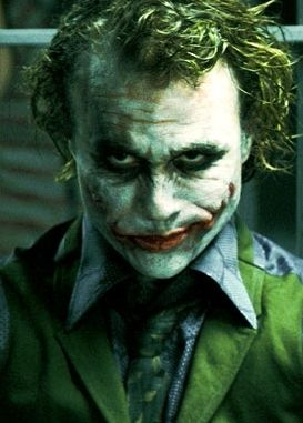 I have a twisted attraction to the joker, not because it's Heath Ledger in a ridiculously wonderful costume, but because the Joker gets inside your mind, and creates chaos and animosity for no reason but to entertain himself