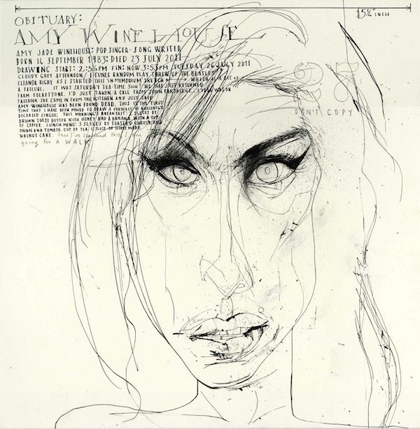 Amy Winehouse by David Hughes http://www.rappart.com/portfolio/0/152/0/david_hughes/0/0