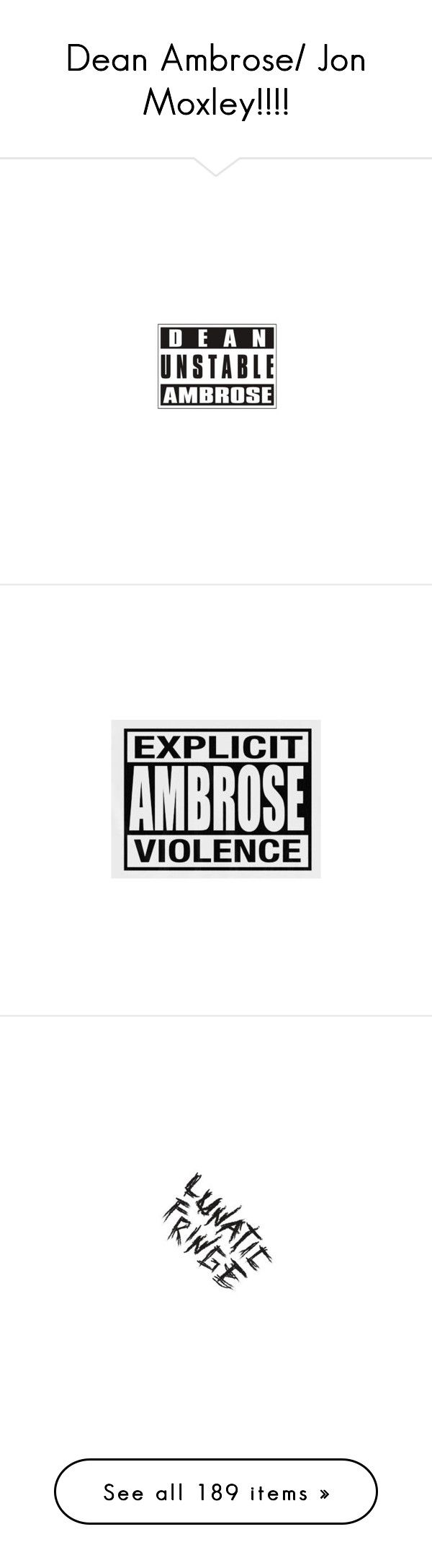 """""""Dean Ambrose/ Jon Moxley!!!!"""" by thornmoxelyambrose ❤ liked on Polyvore featuring wwe, dean ambrose, text, phrase, quotes, saying, misc, accessories, hats and knit hats"""