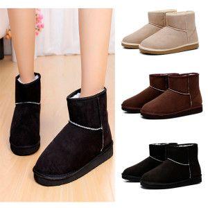 Female Flat Heels Autumn & Winter Warm Boots http://ketchikancrafts.com/product/1-pair-fashion-female-flat-heels-autumn-winter-warm-snow-boots-black-coffee-beige/