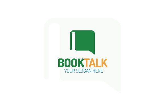 Book talk logo by MIRARTI on @creativemarket