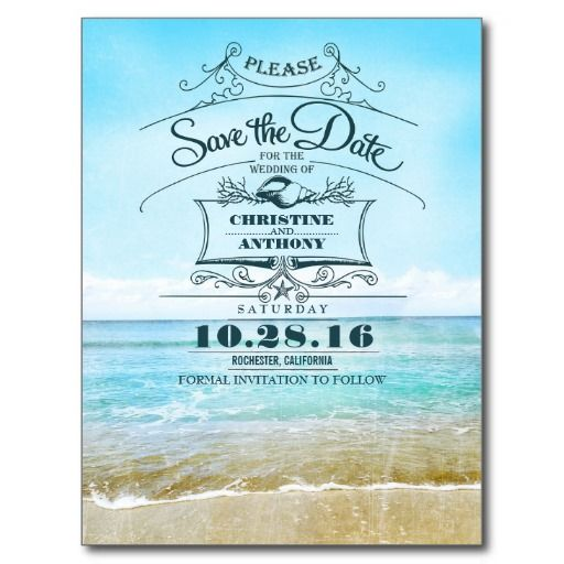 145 best images about Beach Save the Date Cards on Pinterest ...