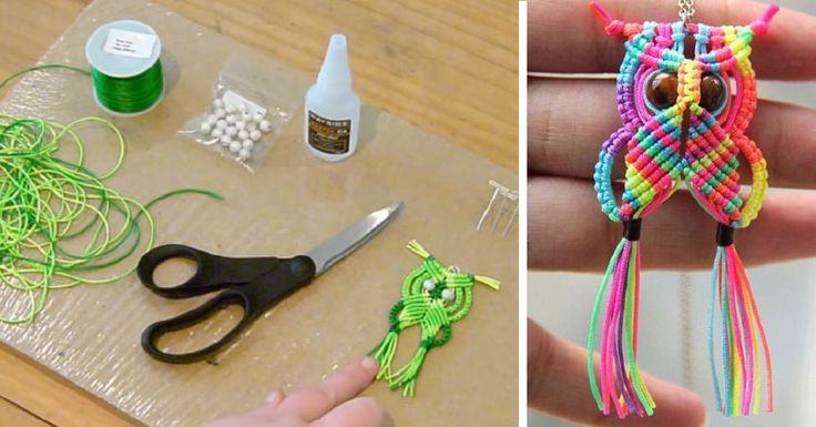 Deux tutoriels pour apprendre à faire un tout petit hibou avec de la corde satinée