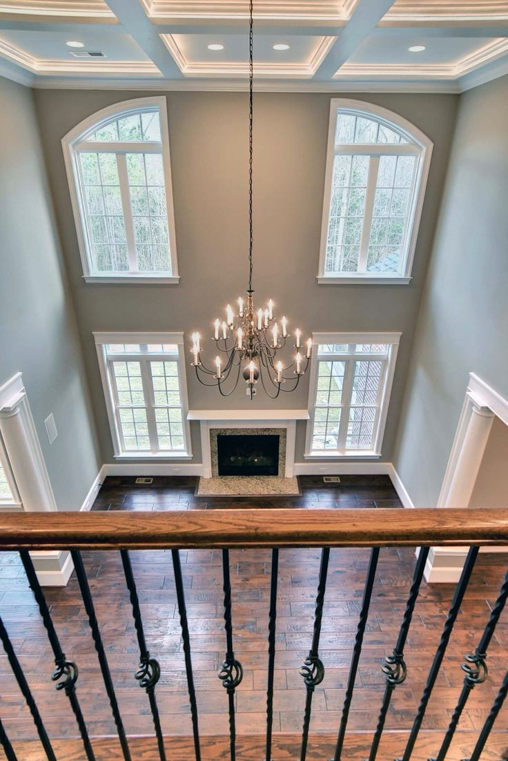 Best 25+ Two story fireplace ideas on Pinterest : Large living rooms, Large windows and Two ...