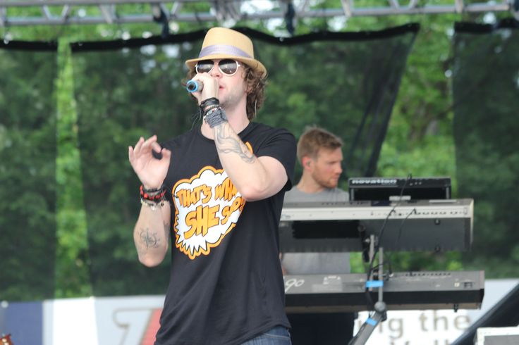 The Wanted's Jay McGuiness puts on a show during KFest 2013 at Dutchess Stadium, located in Wappingers Falls, NY.