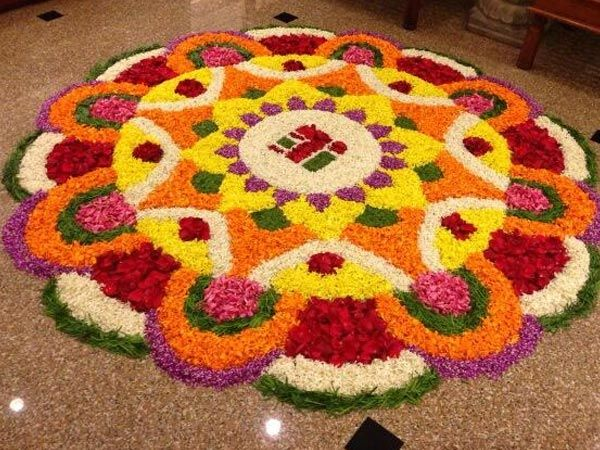 10 Trending Pookalam Designs For Onam - Boldsky............