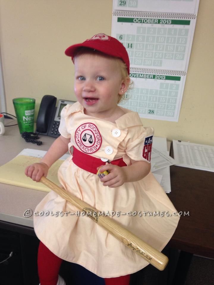 My Little Rockford Peach � League of Their Own Toddler Costume... This website is the Pinterest of costumes