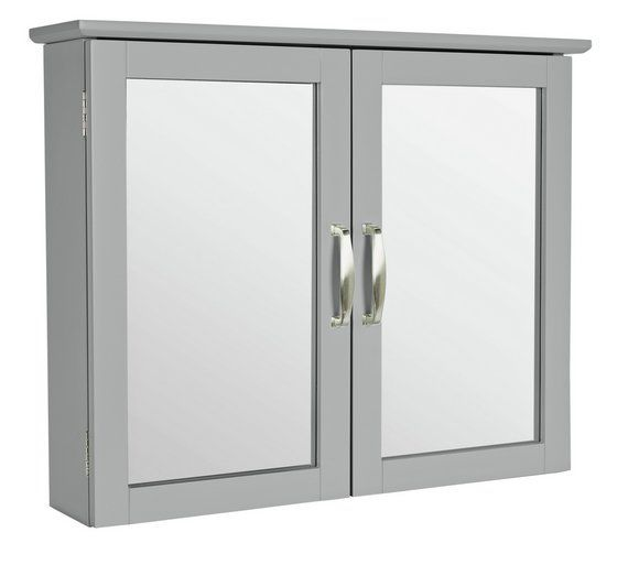 Buy Collection New Tongue and Groove Mirrored Wall Cabinet -Grey at Argos.co.uk, visit Argos.co.uk to shop online for Bathroom cabinets, Bathroom furniture, Home and garden