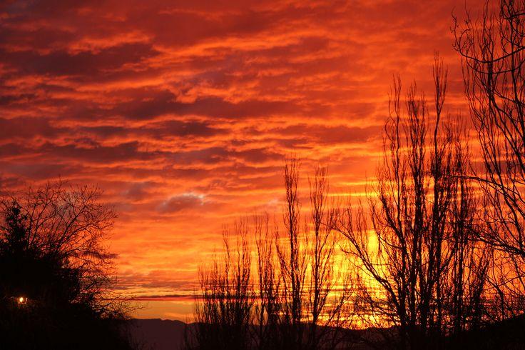 burning #sky #chile #farellones #sunset