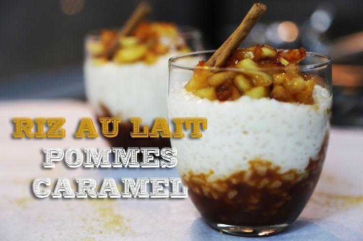 Recette du Riz au Lait, pommes et caramel au beurre salé - hervé cuisine