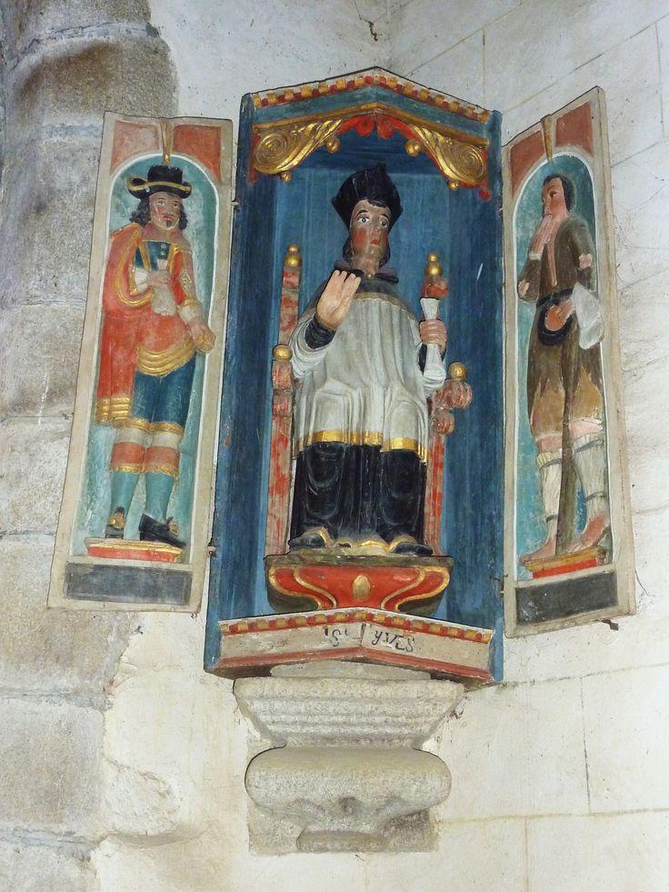 Retable de l'église de Saint-Herbot (29).