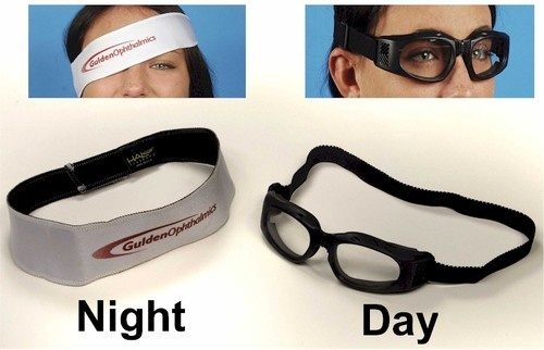 Dry Eye/Lagophthalmos Kit. Could they have taken more ridiculous pictures?! Seriously though, if you have severe dry eye, these types of goggles can help. $29