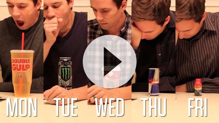 Dan Meyer 3 Act Math - Finals Week, ratio and proportion caffeine to liquid volume