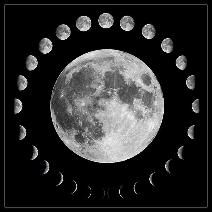 lunar phases in space - photo #2