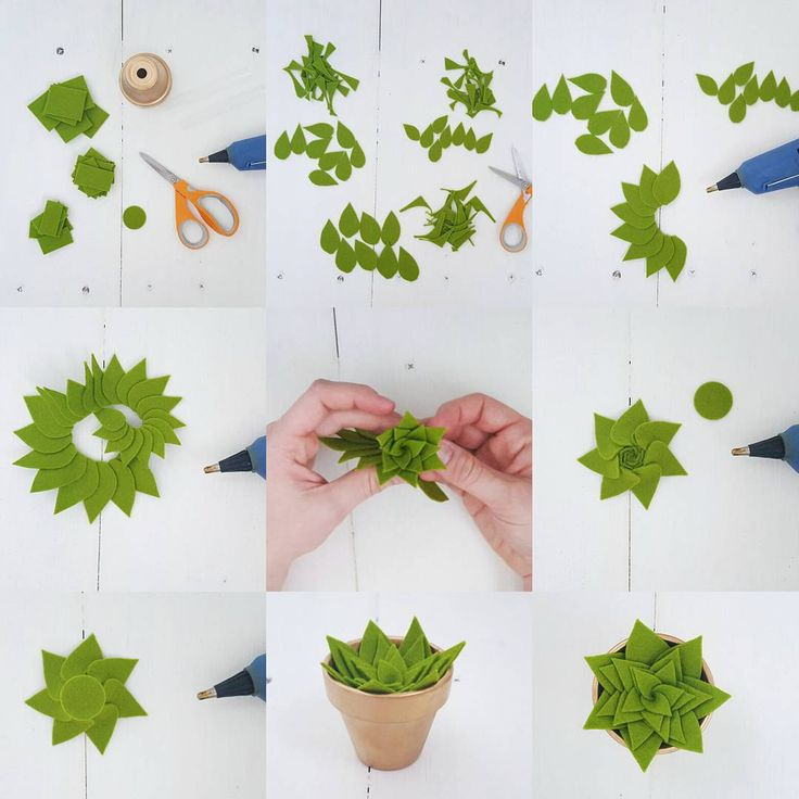 """""""Tutorial Thursday! Make your own succulent. All you need is felt, scissors, and a glue gun. This is going to be a weekly thing and I'm super excited. Let…"""""""