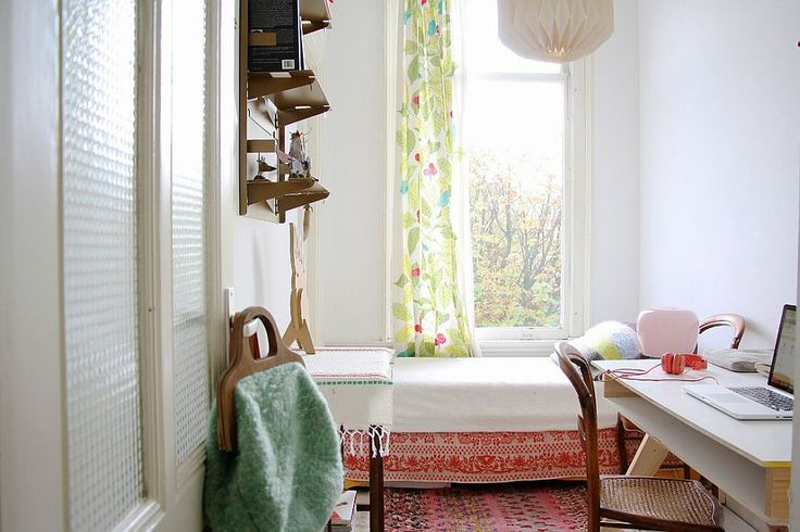 Scandinavian home office and guest bedroom idea [From: Holly Marder]