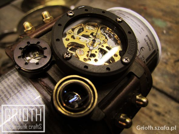 Industrial Steampunk Watch Zegarek Grioth