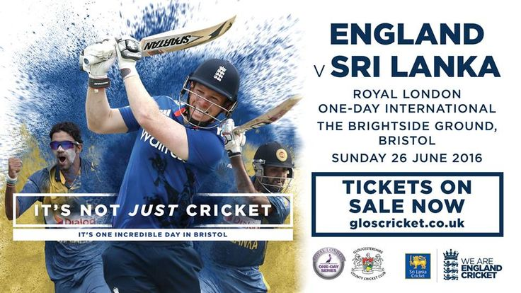 England Cricket comes to Bristol on Sunday 26 June 2016