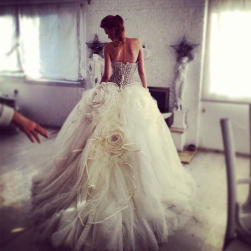 dress, wedding, and white kép