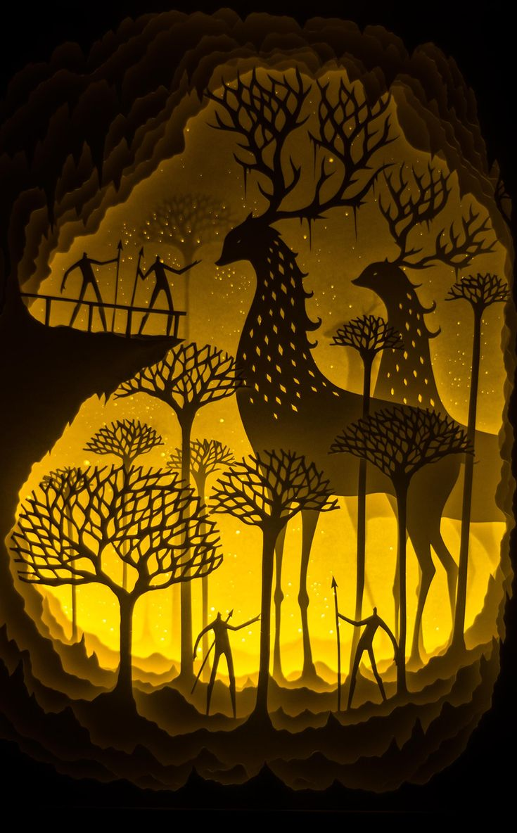 New Backlit Paper Sculptures by Hari & Deepti