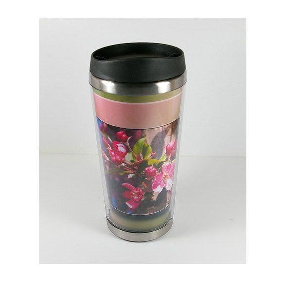 Travel Mug Coffee Mug Custom Travel Mug Custom by EtaGeminiArt