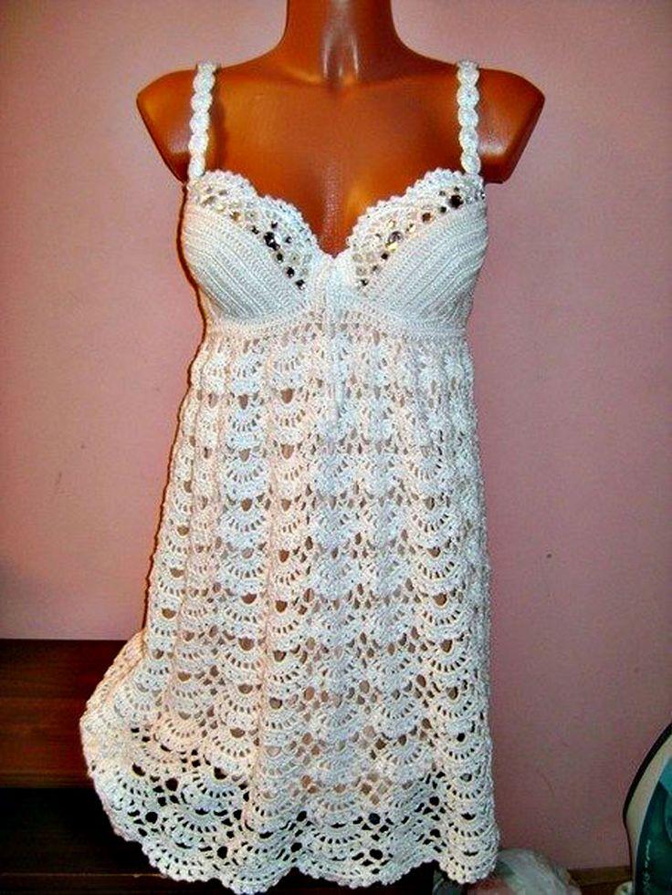 """Dos vestido crochet con """"fan"""" de Una falda. Hable con LiveInternet - Servicio Rusos Diarios Online"""