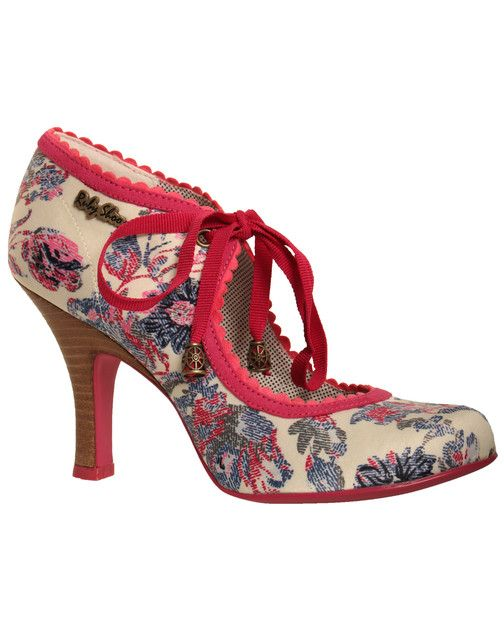 Ruby Shoo Pink Printed 'Willow' Shoe