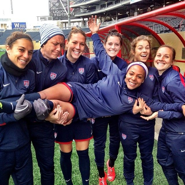 "USWNT Instagram: ""Happy Birthday to #USWNT Syd Leroux! #Teammates"" Carli Lloyd, Abby Wambach, Lauren Holiday, Ali Krieger, Kelley O'Hara & Amy Rodriguez celebrate Sydney Leroux's birthday"
