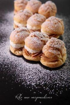 Choux pralinés et crème mascarpone vanillée