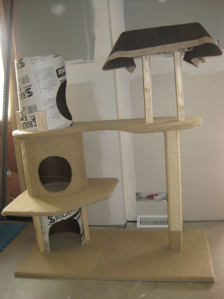 DIY cat tower: Cat Towers For, Cat Furniture, 4 H Projects, Cat Trees, Cat House, Cat Stuff, Diy Cat, Cats Fer, Towers For Snickers