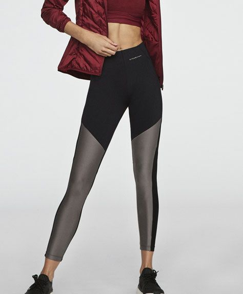 Mink color block leggings - 2