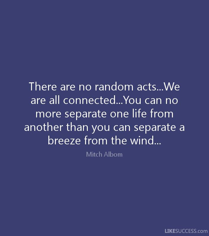 """Image result for """"There are no random acts...We are all connected...You can no more separate one life from another than you can separate a breeze from the wind..."""""""