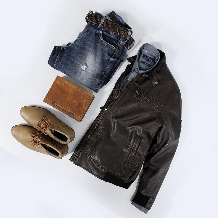 "33 Likes, 2 Comments - ANDREW SMITH (@andrewsmith_official) on Instagram: ""Weekend mode in Denim  #denim #leatherjacket #desertboots #menswear #menfashion #menstyle #ootd…"""