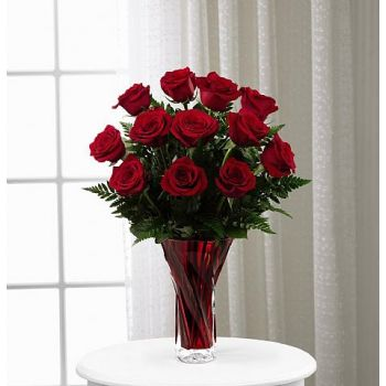 #bowmanvilleflowers #valentinesday #giftideas #love #sparklingcider #sparklerose #red #rose #teddy #bear #chocolatecoveredstrawberries  The FTD® In Love with Red Roses™ Bouquet | Bowmanville, Courtice, Newcastle, Oshawa, Whitby Flower Delivery