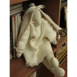 Rabbit Doll in White Dress