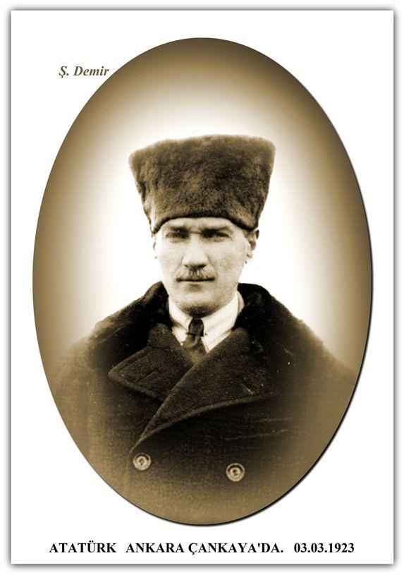 ATATÜRK ANKARA ÇANKAYA'DA. 03.03.1923