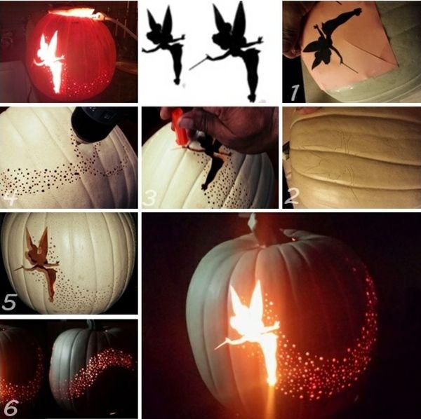 fee halloween kürbis aushöhlen schnitzen