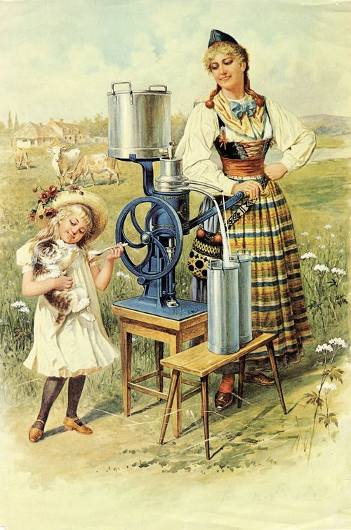 Separator AB (later Alfa-Laval) advertising poster from early 1900