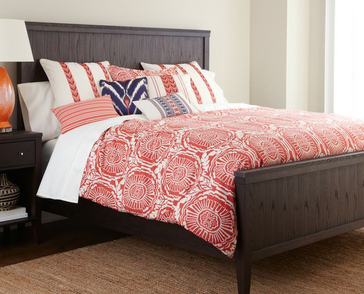 Karington bed with festive cozumel inspired linens for Stores like horchow