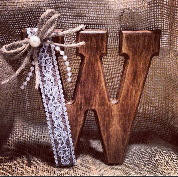 Rustic Cake Topper Monogram by JeNeBridal on Etsy, $19.75